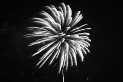 Cena de florescência agradável do fogo de artifício em Pattaya Imagens de Stock Royalty Free