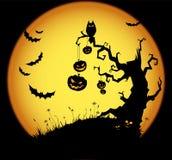 Cena de Halloween ilustração stock