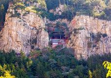 Cena de Hengshan da montanha (grande montanha do norte). Fotos de Stock Royalty Free