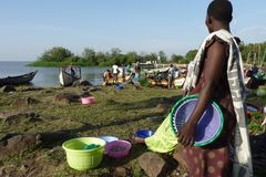 Cena de Kenya ocidental Fotografia de Stock