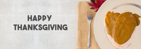 Cena de la acción de gracias con Turquía Imagen de archivo libre de regalías
