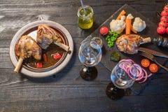 Cena de la caña del cordero Foto de archivo libre de regalías