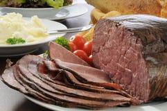 Cena de la carne de vaca de carne asada foto de archivo libre de regalías