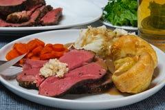 Cena de la carne de vaca de carne asada Imágenes de archivo libres de regalías