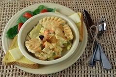 Cena de la empanada caliente del pollo Foto de archivo libre de regalías