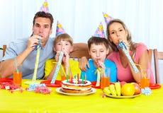 Cena de la familia Fotografía de archivo libre de regalías