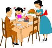 Cena de la familia Foto de archivo libre de regalías