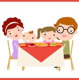 Cena de la familia Fotos de archivo