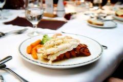 Cena de la langosta Imagen de archivo libre de regalías