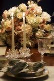 Cena de la luz de una vela Imágenes de archivo libres de regalías
