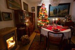 Cena de la Navidad Imagen de archivo libre de regalías