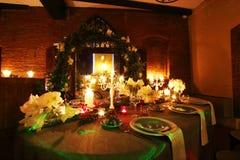Cena de la Navidad Foto de archivo