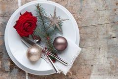 Cena de la Navidad Fotos de archivo