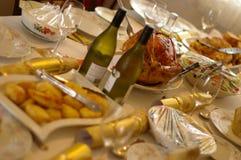 Cena de la Navidad Imagenes de archivo
