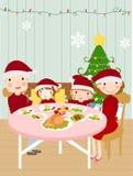 Cena de la Navidad de la familia stock de ilustración