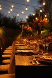 Cena de la oscuridad Imagen de archivo libre de regalías