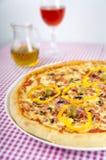 Cena de la pizza Foto de archivo libre de regalías