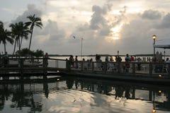Cena de la puesta del sol imagen de archivo libre de regalías