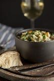 Cena de la sopa del minestrone Fotos de archivo
