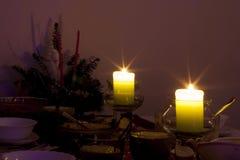 Cena de la tarde imagen de archivo libre de regalías