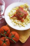 Cena de las pastas Imagen de archivo libre de regalías