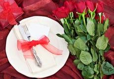 Cena de las tarjetas del día de San Valentín fotos de archivo libres de regalías