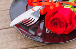 Cena de las tarjetas del día de San Valentín Imagenes de archivo