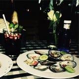Cena de los mariscos fotografía de archivo libre de regalías