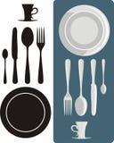 Cena de los utensilios imagen de archivo libre de regalías