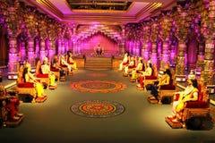 Cena de Mahabharath épico indiano na cidade do filme de Ramoji Imagens de Stock Royalty Free