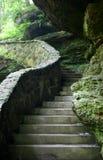 Cena de pedra do stairway imagens de stock