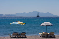 Cena de relaxamento do mar Fotos de Stock