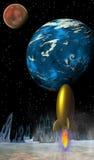 Cena de Sci Fi ilustração royalty free