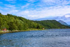 Cena de Serene Scandinavian Fjord Foto de Stock