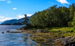 Cena de Serene Scandinavian Fjord Imagem de Stock