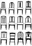 Cena de sillas Imagen de archivo
