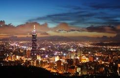 Cena de Taipei Fotografia de Stock