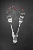 Cena dei biglietti di S. Valentino Immagini Stock Libere da Diritti