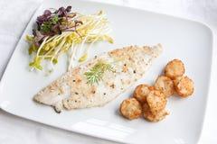 Cena dei pesci Fotografia Stock