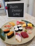 Cena dei sushi Fotografia Stock Libera da Diritti