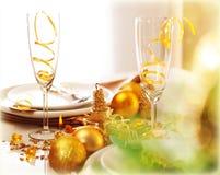Cena del Año Nuevo Imagenes de archivo