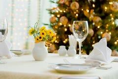 Cena del día de fiesta Foto de archivo libre de regalías