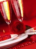 Cena del día de San Valentín Foto de archivo libre de regalías