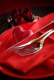 Cena del día de tarjeta del día de San Valentín Fotografía de archivo