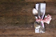 Cena del día de tarjetas del día de San Valentín Fotos de archivo libres de regalías