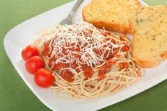 Cena del espagueti Fotografía de archivo libre de regalías