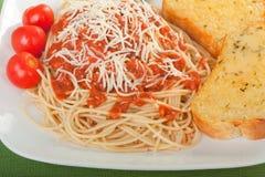 Cena del espagueti Fotos de archivo libres de regalías