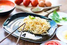 Cena del espagueti Fotos de archivo