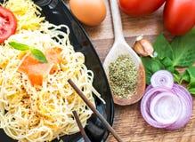 Cena del espagueti Foto de archivo