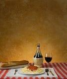 Cena del espagueti Imagen de archivo